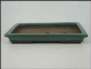 Bonsai Pot, Rectangle, 43cm, Green, Glazed